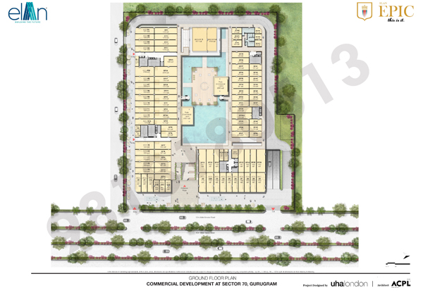 ELAN Epic Sector 70 Gurgaon floorplan