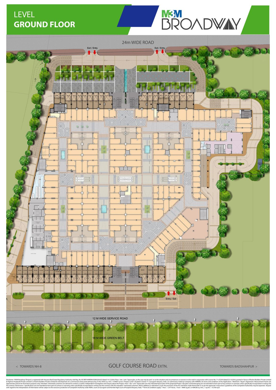 M3m Broadway Gurgaon Commercial Project Sector 71 Gurgaon M3m India M3m Broadway