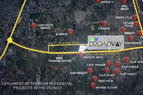 M3M Broadway Gurgaon Site Plan
