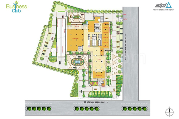 AIPL Business CluB Site Plan