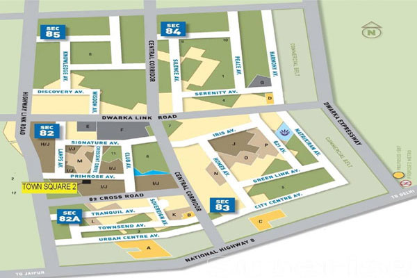 Vatika Town Square Site Plan